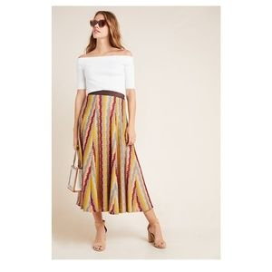 Anthropologie Striped Skirt by Seen Worn Kept NWT